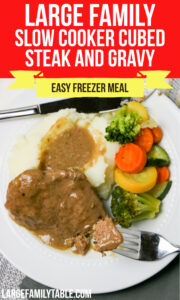 Large Family Slow Cooker Cubed Steak and Gravy