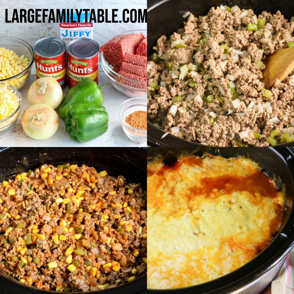 Large Family Slow Cooker Freezer-Friendly Tamale Casserole