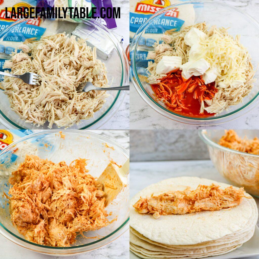 Big Family Buffalo Chicken Taquitos   Make-Head, Freezer Lunch Recipes!