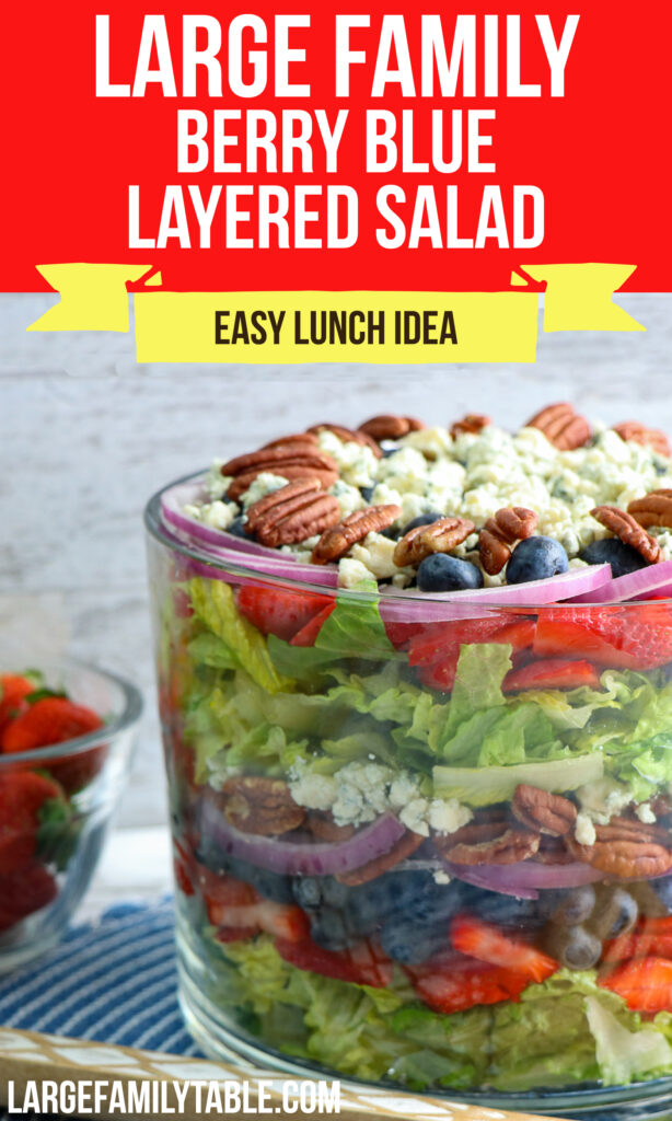 Large Family Berry Blue Layered Salad   Easy Lunch Ideas!!
