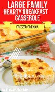 Large Family Hearty Breakfast Casserole