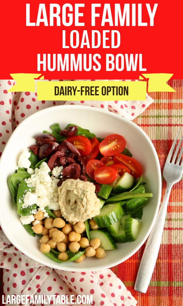 Large Family Loaded Hummus Bowl