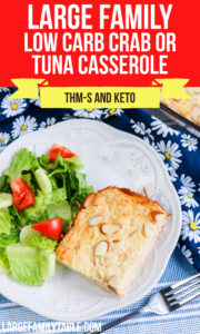Large Family Low Carb Crab or Tuna Casserole