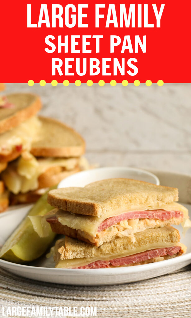 Big Family Sheet Pan Reubens | Large Family Lunch or Dinner Ideas!