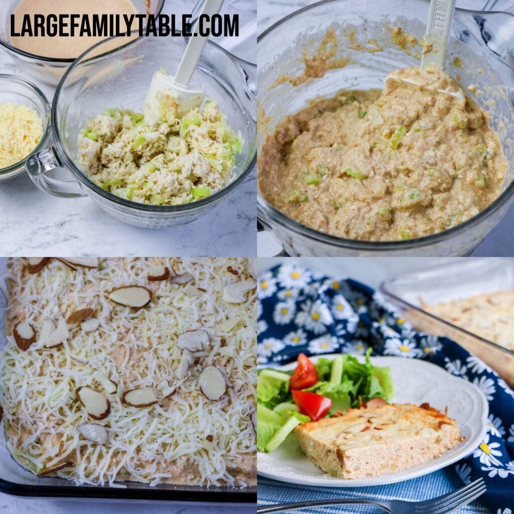 Big Family Low Carb Crab or Tuna Casserole | THM-S, Keto