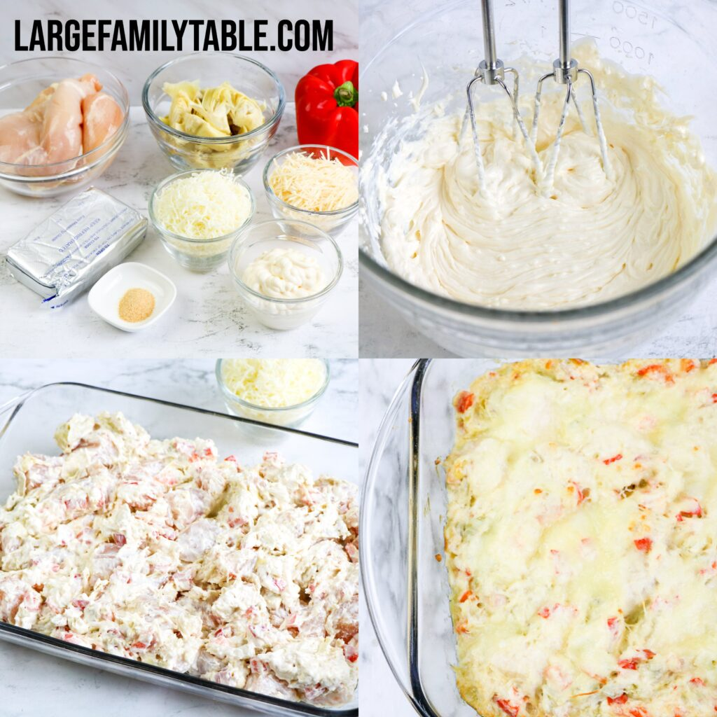 Large Family Low Carb Parmesan Chicken with Artichoke Hearts | THM-S, Keto