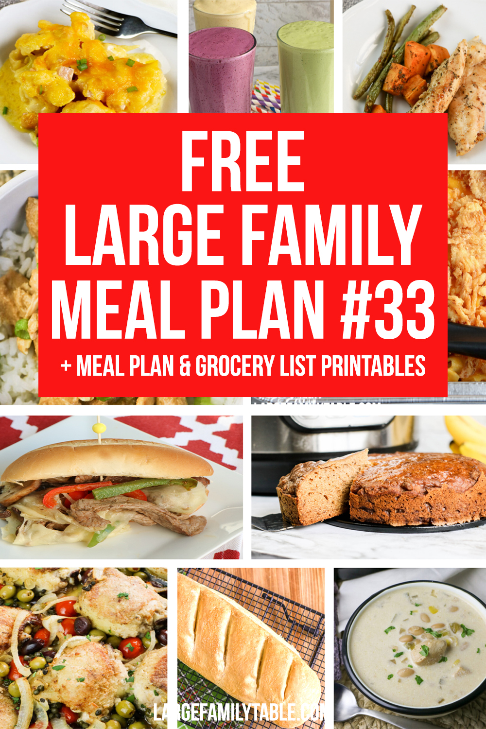 Large Family Meal Plan 33