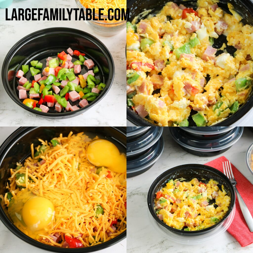 Large Family Breakfast Casserole Bowls | Make-Ahead Freezer Meal