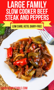 Large Family Beef Steak and Peppers