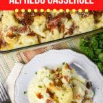 Low Carb Cauliflower Alfredo Casserole