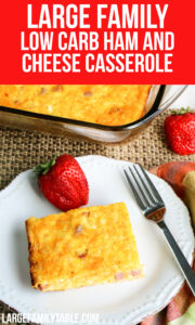 Low Carb Ham and Cheese Casserole