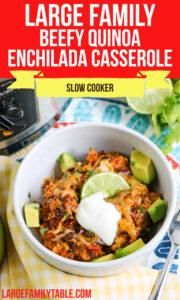 Beefy Quinoa Enchilada