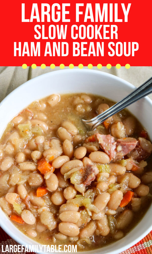 Large Family Slow Cooker Ham and Bean Soup