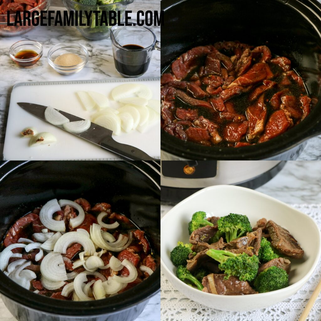 Large Family Low Carb Slow Cooker Beef and Broccoli   Keto, THM-S