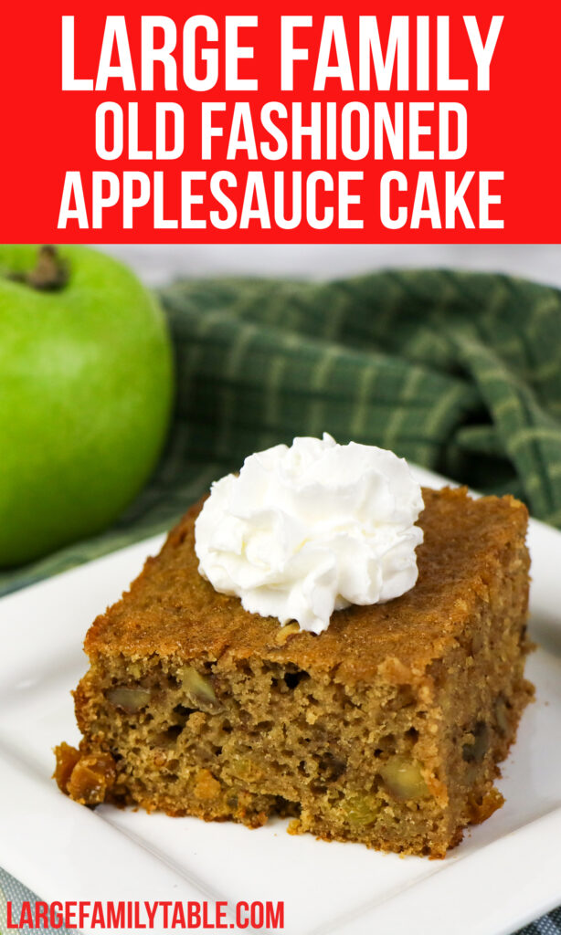 Big Family Old Fashioned Applesauce Cake   Easy Desserts and Sides