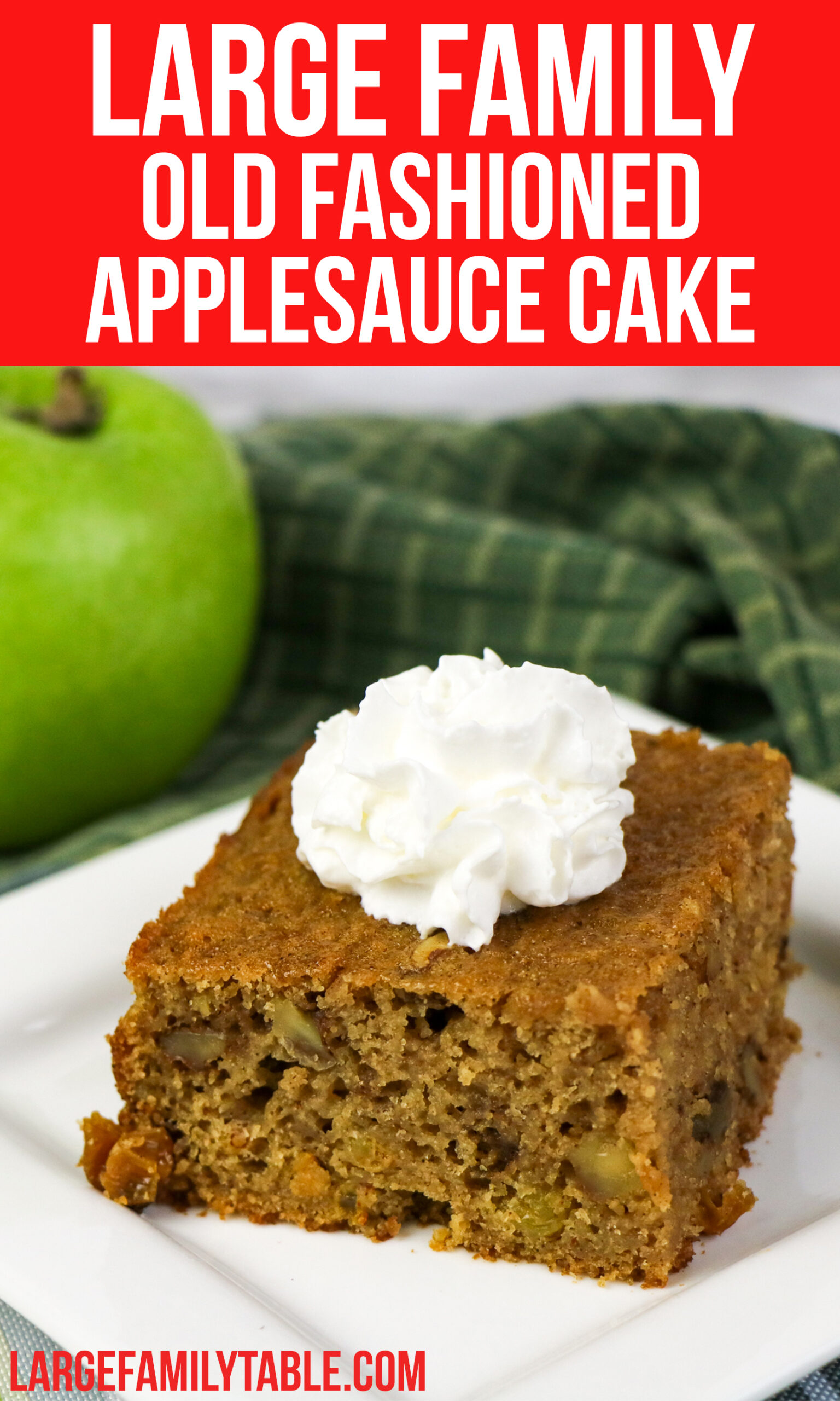 Big Family Old Fashioned Applesauce Cake