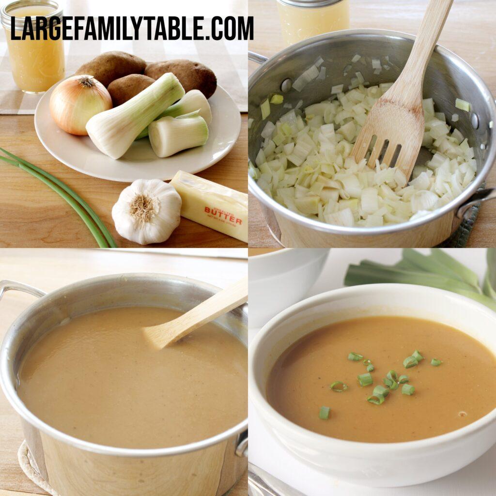 Large Family Roasted Potato and Leek Soup