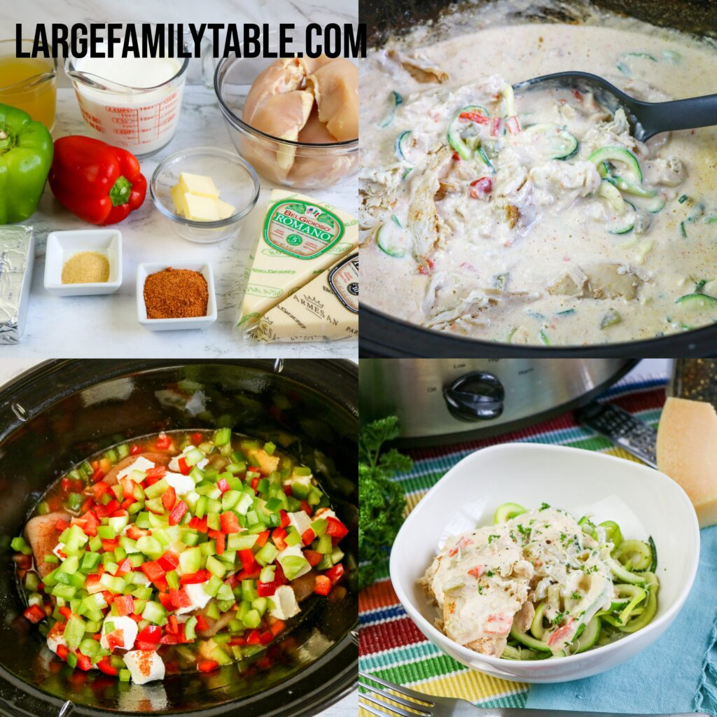 Large Family Spicy Chicken Alfredo | Low Carb, Keto, & THM-S Optional