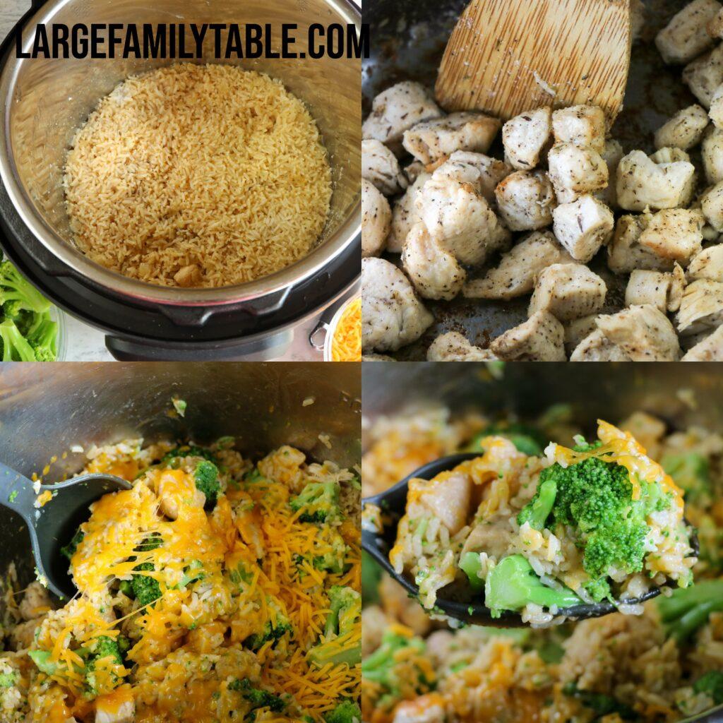 Big Family Chicken, Broccoli, Cheese & Rice Instant Pot Casserole