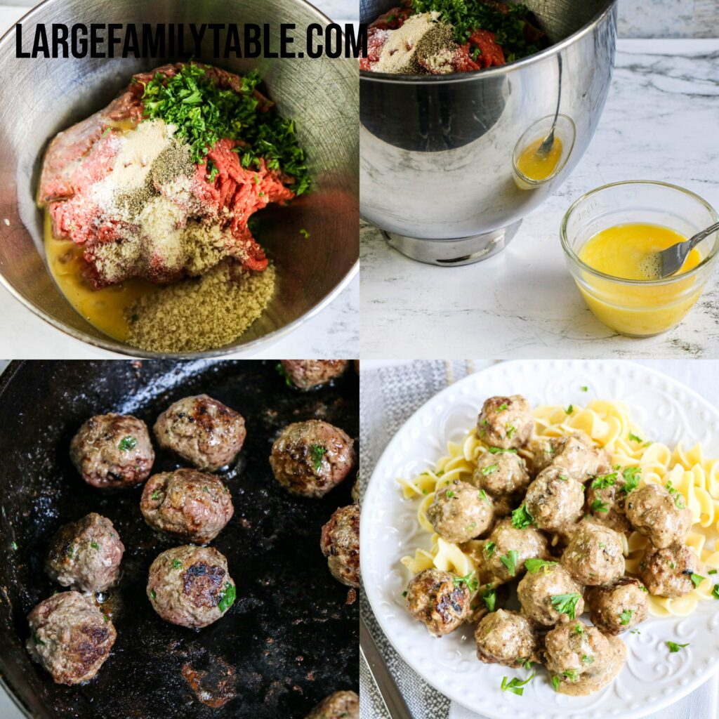 Large Family Creamy Meatballs in the Slow Cooker