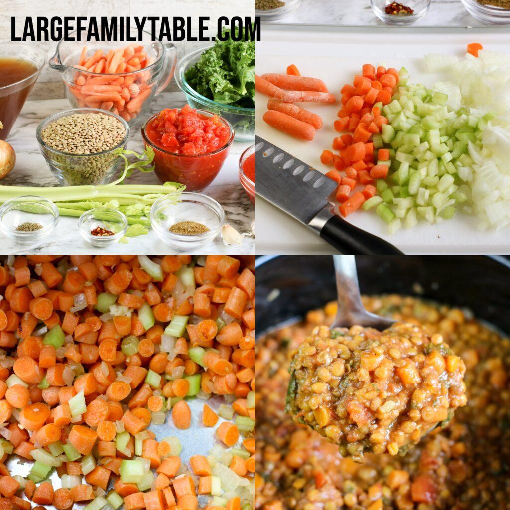 Large Family Instant Pot Lentil Soup   Low Fat, Dairy-Free