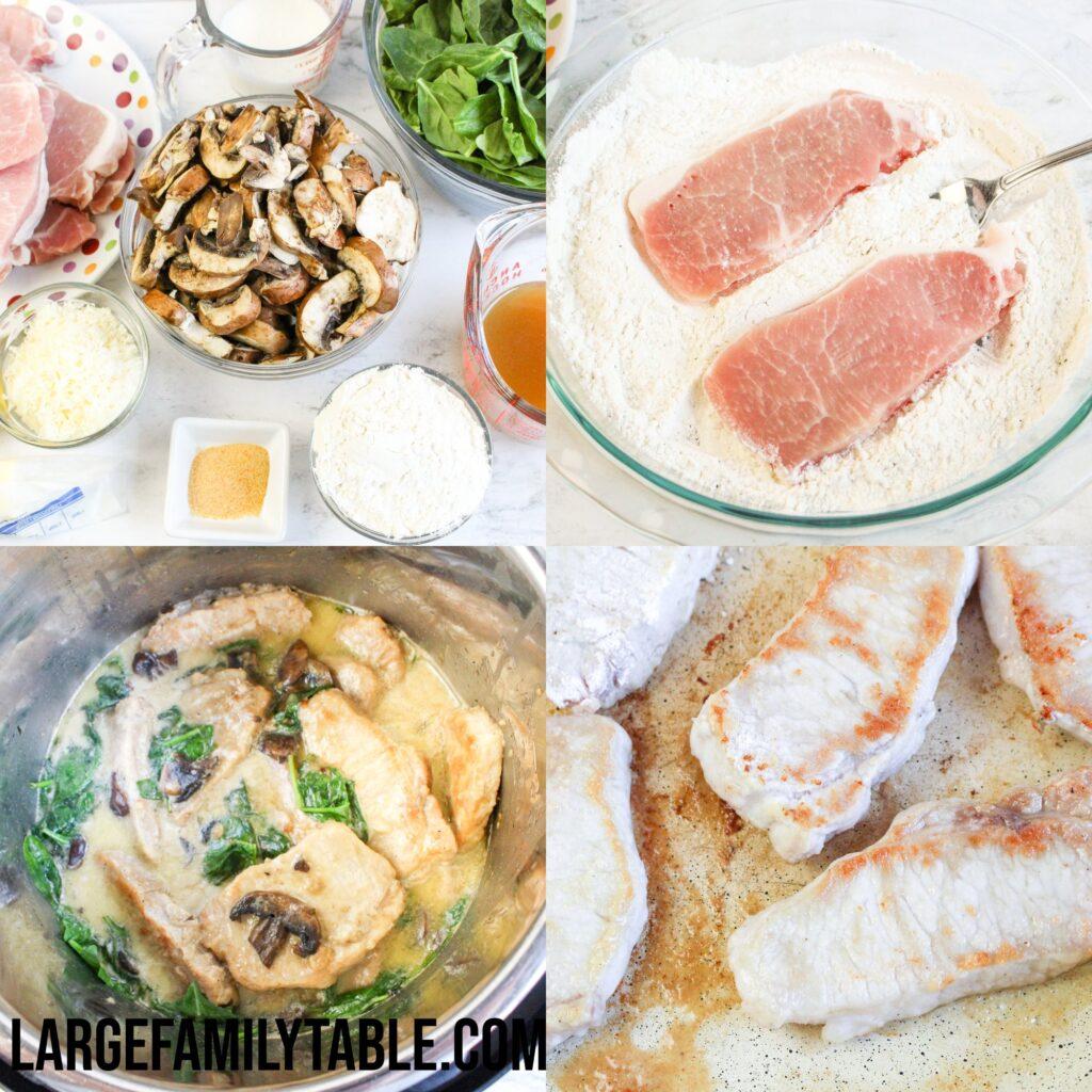 Large Family Instant Pot Creamy Lemon Pork Chops