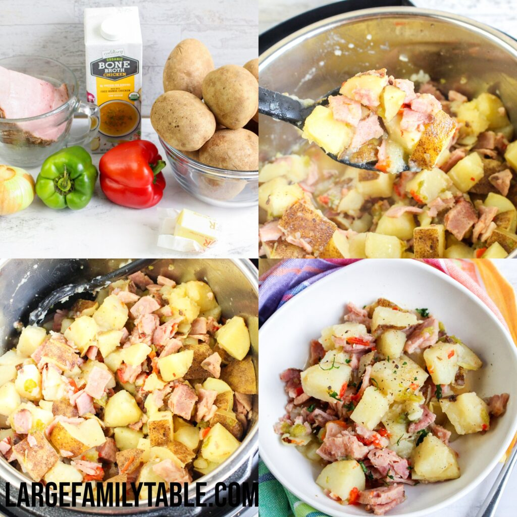 Large Family Instant Pot Ham and Potato Hash | Dairy Free