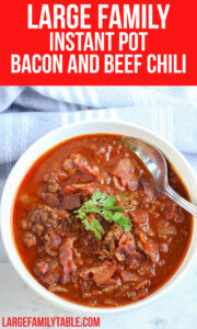 Instant Pot Bacon and Beef Chili