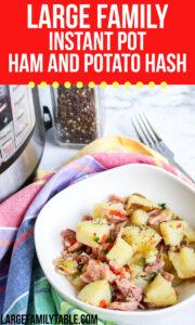 Large Family Instant Pot ham and Potato Hash
