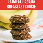 Large Family Oatmeal Banana Breakfast Cookies