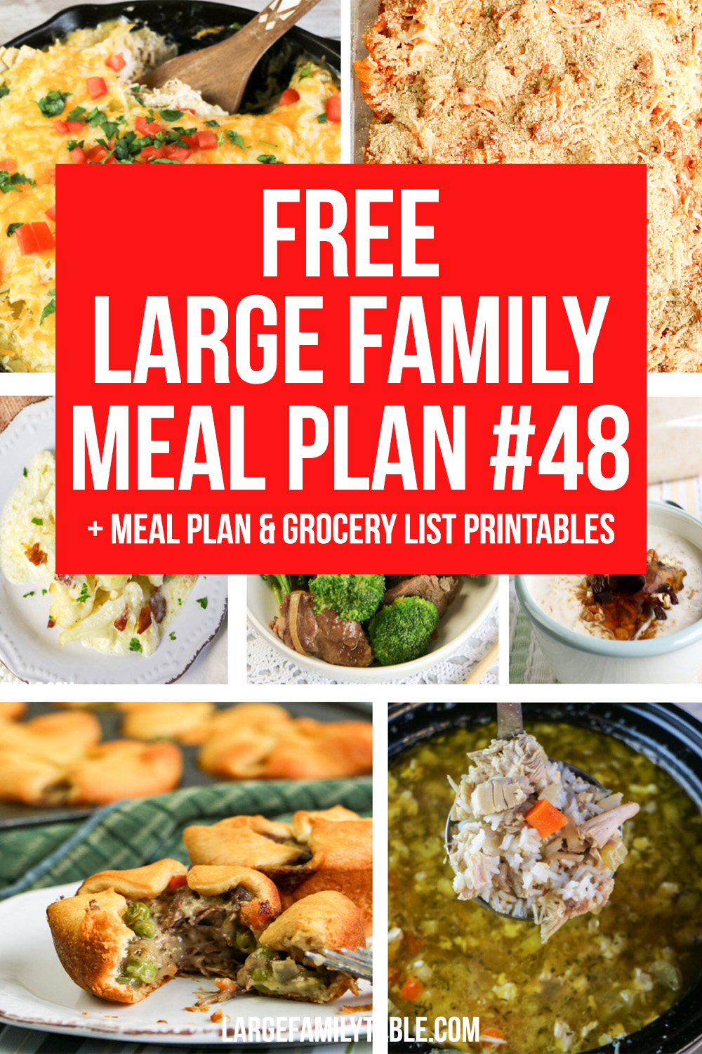 Large Family Meal Plan 48