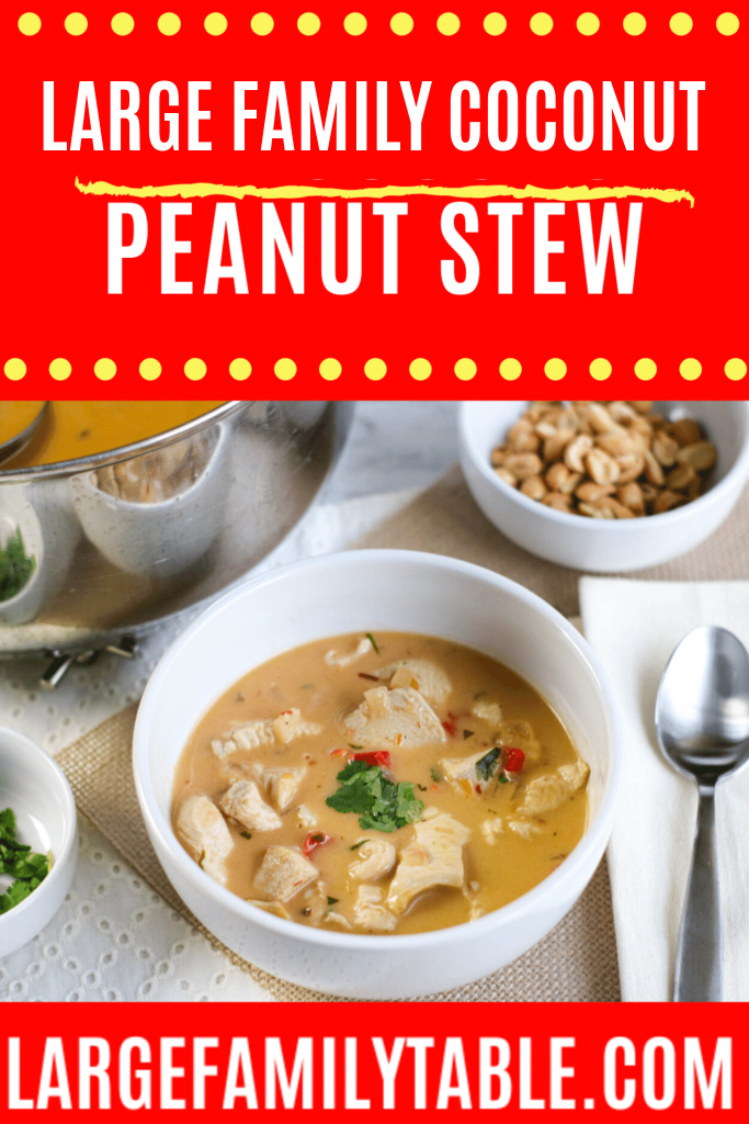 Coconut Peanut Stew | Large Family Recipes, Dairy-free