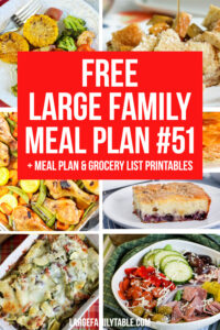 Large Family Meal Plan 51