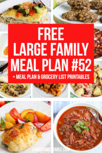 Large Family Meal Plan 52